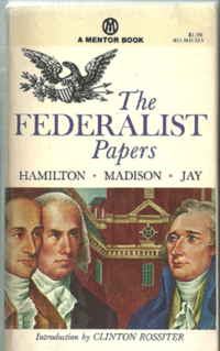 Book Cover Federalist Papers, series of essays