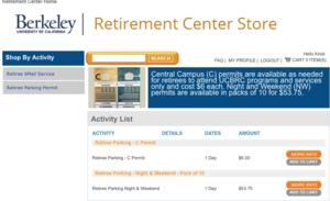 Retiree Parking Options   Retirement Center